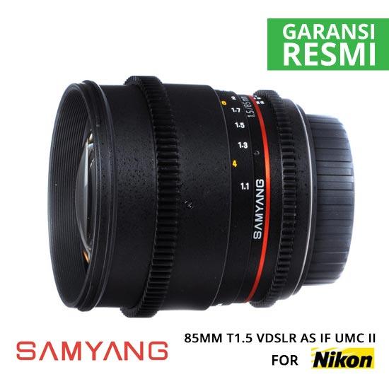 Jual Lensa Samyang 85mm T1.5 VDSLR AS IF UMC II for Nikon Murah. Cek Harga Lensa Samyang 85mm T1.5 VDSLR AS IF UMC II for Nikon di Toko Kamera Online Surabaya Jakarta Indonesia - Plazakamera.com