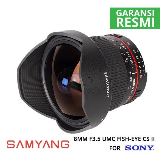 jual Samyang 8mm F3.5 UMC Fish-Eye CS II for Sony NEX