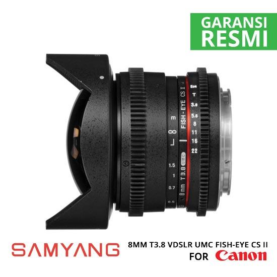 jual Samyang 8mm T3.8 VDSLR UMC Fish-eye CS II for Canon