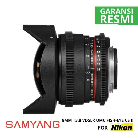 jual Samyang 8mm T3.8 VDSLR UMC Fish-eye CS II for Nikon