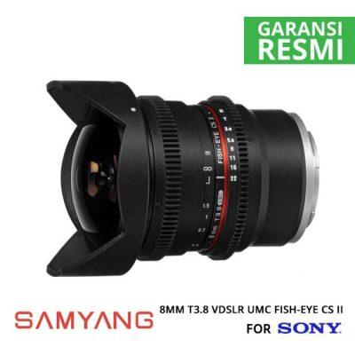 jual Samyang 8mm T3.8 VDSLR UMC Fish-eye CS II for Sony NEX