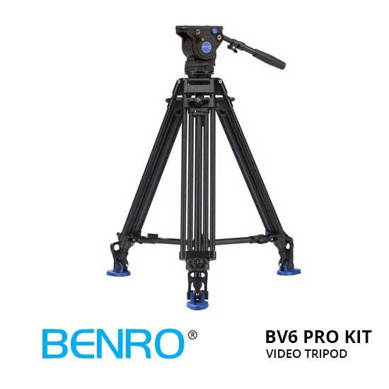 Jual Benro BV6 Pro Video Tripod Kit Murah. Cek Harga Benro BV6 Pro Video Tripod Kit disini, Toko Aksesoris Kamera Surabaya Jakarta - Plazakamera.com