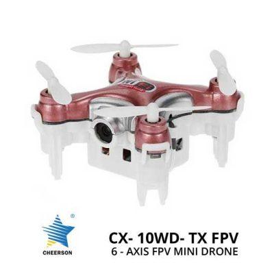 Jual Mini Drone Cheerson CX-10WD-TX 6-Axis FPV Mini Drone Rosy Red Murah. Cek Harga Mini Drone Cheerson CX-10WD-TX 6-Axis FPV Mini Drone Rosy Red disini, Toko Drone Online Surabaya Jakarta - Plazakamera.com
