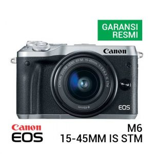 Canon EOS M6 Kit EF-M15-45mm f3.5-6.3 IS STM Silver