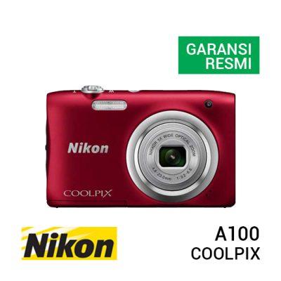 jual kamera Nikon Coolpix A100 Red harga murah surabaya jakarta