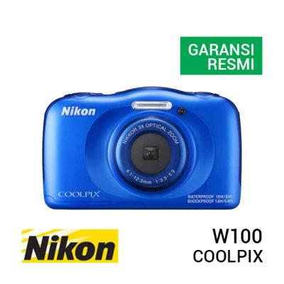 jual kamera Nikon Coolpix W100 Blue harga murah surabaya jakarta