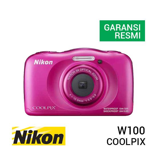 jual kamera Nikon Coolpix W100 Pink harga murah surabaya jakarta