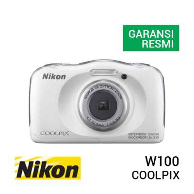 jual kamera Nikon Coolpix W100 White harga murah surabaya jakarta
