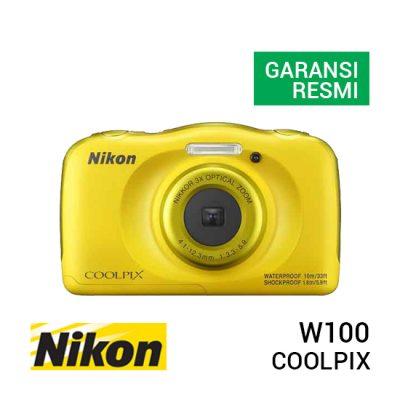 jual kamera Nikon Coolpix W100 Yellow harga murah surabaya jakarta