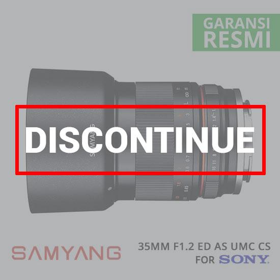 jual lensa Samyang 35mm F1.2 ED AS UMC CS for Sony NEX harga murah surabaya jakarta