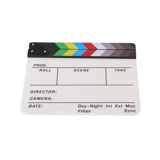 jual Clapper Board Colorful Acrylic White