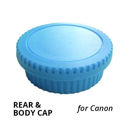 Jual Rear & Body Cap for Canon Light Blue