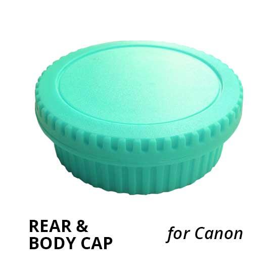 Jual Rear & Body Cap for Canon Light Green