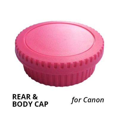 Jual Rear & Body Cap for Canon Pink