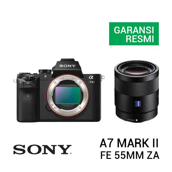 jual kamera Sony A7 Mark II Kit FE 55mm f/1.8 ZA harga murah surabaya jakarta