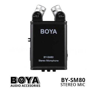 Jual Boya BY-SM80 Stereo Condenser Microphone