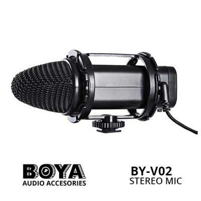 Jual Boya BY-V02 Stereo Condenser Microphone
