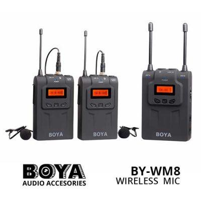 Jual Boya BY-WM8 Wireless Dual Channel Microphone