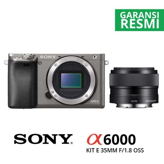Jual Digital Kamera Mirrorless Sony A6000 Kit E 35mm f/1.8 OSS Graphite harga murah