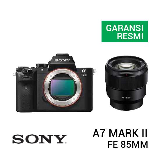 jual kamera Sony A7 Mark II Kit FE 85mm f/1.8 harga murah surabaya jakarta