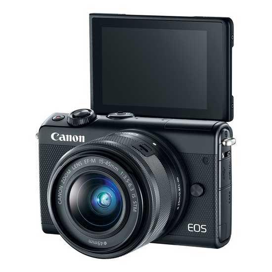 Jual Canon EOS M100 Kit EF-M 15-45 IS STM & EF-M 22 STM Black - Harga Terbaik