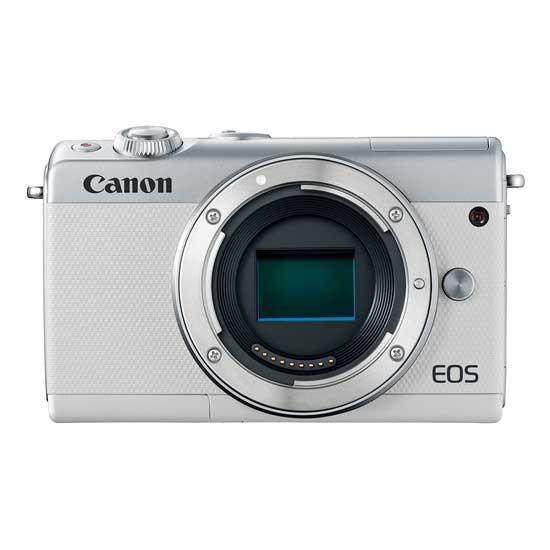 Jual Canon EOS M100 Kit EF-M 15-45 IS STM & EF-M 22 STM White - Harga Terbaik