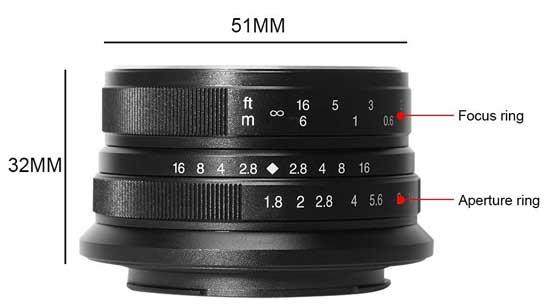 Jual Lensa 7Artisans 25mm f1.8 for Canon EOS-M Black
