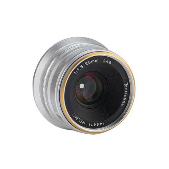 Jual Lensa 7Artisans 25mm f1.8 for Sony E-Mount Silver