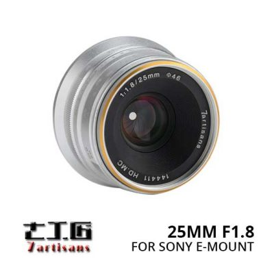 Jual Lensa 7Artisans 25mm f1.8 for Sony E-Mount Silver