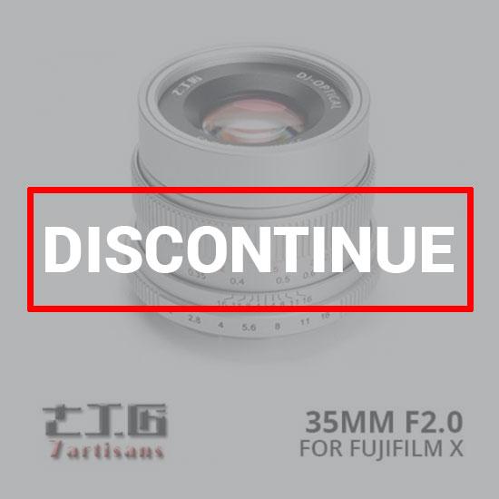 jual lensa 7Artisans 35mm f2.0 for Fujifilm X - Silver harga murah surabaya jakarta