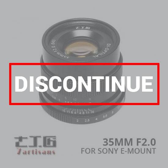 jual lensa 7Artisans 35mm f2.0 for Sony E-Mount - Black harga murah surabaya jakarta