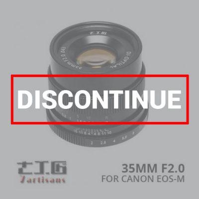jual lensa 7Artisans 35mm f2.0 for Canon EOS-M - Black harga murah surabaya jakarta
