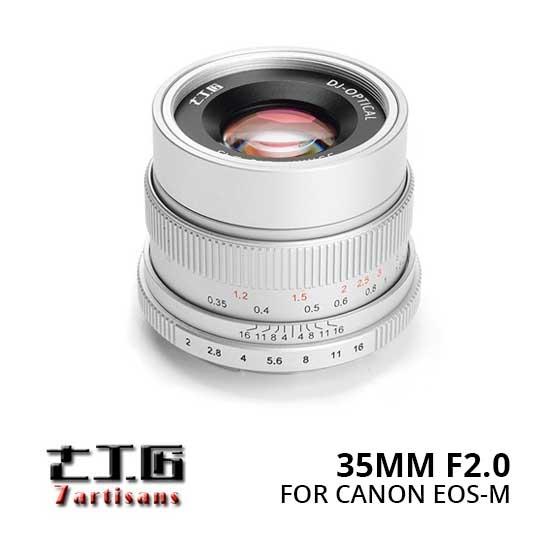 Jual Lensa 7Artisans 35mm f2.0 for Canon EOS-M - Silver