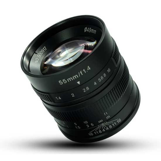 Jual Lensa 7Artisans 55mm f1.4 for Canon EF-M - Black