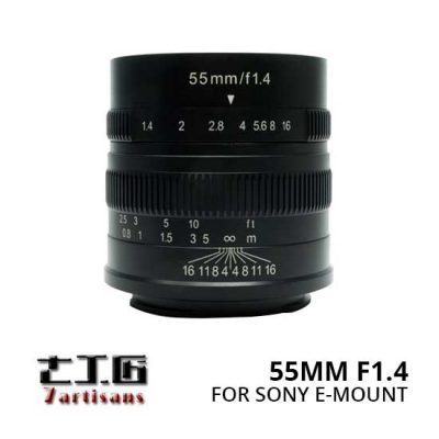 Jual Lensa 7Artisans 55mm f1.4 for Sony E-Mount - Black