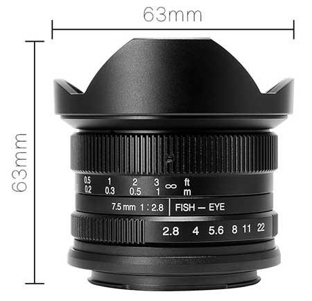 Jual Lensa 7Artisans 7.5mm f2.8