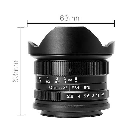 Jual Lensa 7Artisans 7.5mm f2.8 for Fujifilm X - Black
