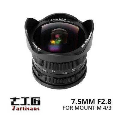 Jual Lensa 7Artisans 7.5mm f2.8 for M 4-3 Panasonic dan Olympus