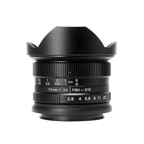 Jual Lensa 7Artisans 7.5mm f2.8 for Sony E-Mount - Black
