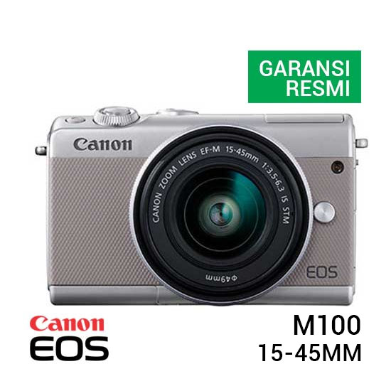 Canon EOS M100 Kit EF-M 15-45mm Grey
