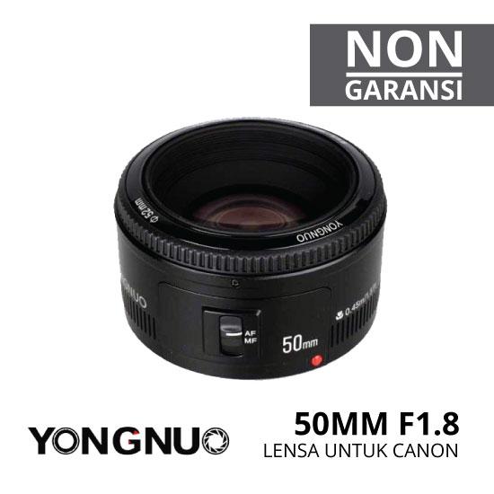jual lensa yongnuo 50mm untuk kamera canon
