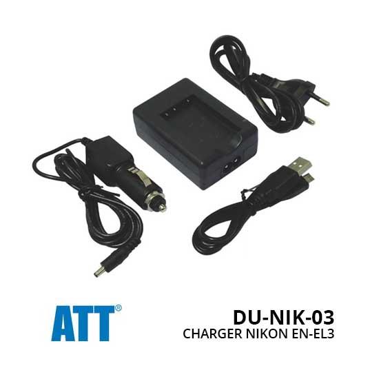 Jual ATT Charger Nikon EN-EL3 Harga Terbaik
