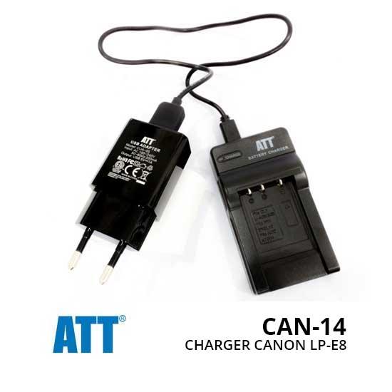 Jual Aksesoris Kamera ATT Charger for Canon LP-E8 Harga Murah