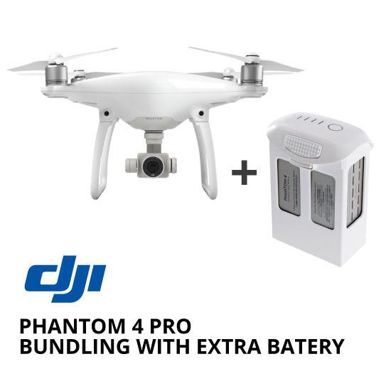jual drone DJI Phantom 4 Pro Bundling with Extra Battery harga murah surabaya dan jakarta