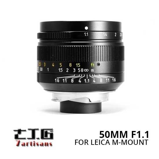 Jual Lensa 7Artisans 50mm F1.1 for Leica M-Mount - Black Harga Terbaik