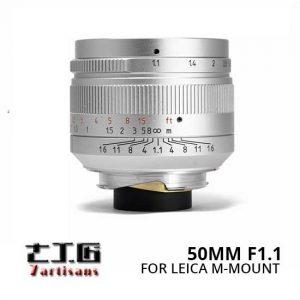 Jual Lensa 7Artisans 50mm F1.1 for Leica M-Mount - Silver Harga Terbaik