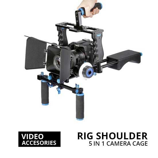Jual Rig Shoulder 5 in 1 Camera Cage for Kamera DSLR Harga Terbaik