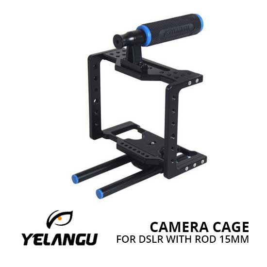 Jual Yelangu Camera Cage for DSLR with Rod 15mm Harga Terbaik