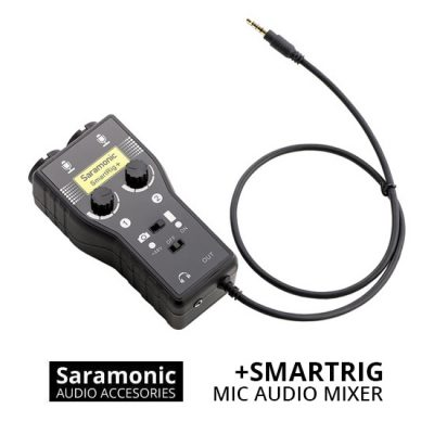 Jual Audio Microphone Audio Mixer Saramonic SmartRig+ 2 Channel 3.5mm Microphone Harga Murah