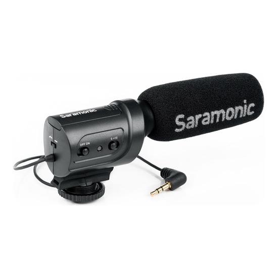 Jual Audio Microphone Condenser Saramonic SR-M3 Mini Directional Condenser Microphone Harga Murah
